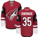 Mens Arizona Coyotes #35 Louis Domingue Red Home Stitched NHL Jersey