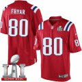 Youth Nike New England Patriots #80 Irving Fryar Elite Red Alternate Super Bowl LI 51 NFL Jersey