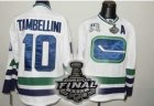 nhl vancouver canucks #10 tambellini white 3rd [2011 stanley cup