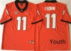 Georgia Bulldogs #11 Jake Fromm Red Youth Nike College Football Jersey