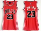 Bulls #23 Michael Jordan Red Women Swingman Jersey