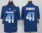 Nike NFC Saints #41 Alvin Kamara Royal 2019 Pro Bowl Limited Jersey
