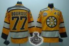 nhl boston bruins #77 bourque yellow[2011 stanley cup]