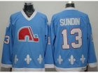 NHL Quebec Nordiques #13 Mats Sundin Light Blue CCM Throwback Stitched jerseys