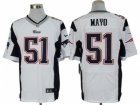 Nike NFL New England Patriots #51 Jerod Mayo white Jerseys(Elite)