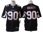 Nike NFL Arizona Cardinals #90 Darnell Dockett Black Jerseys(Limited)