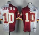 Nike Redskins #10 Robert Griffin III With Hall of Fame 50th Patch NFL Elite Jersey