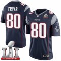 Youth Nike New England Patriots #80 Irving Fryar Elite Navy Blue Team Color Super Bowl LI 51 NFL Jersey