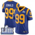 Nike Rams #99 Aaron Donald Royal 2019 Super Bowl LIII Vapor Untouchable Limited Jersey