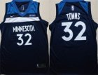 Timberwolves #32 Karl-Anthony Towns Navy Nike Swingman Jersey