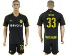 2017-18 Dortmund 33 WEIGL Away Soccer Jersey