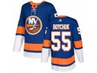Men Adidas New York Islanders #55 Johnny Boychuk Royal Blue Home Authentic Stitched NHL Jersey