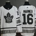 Maple Leafs #16 Mitch Marner White 2019 NHL All-Star Game