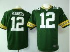 Nike green bay packers #12 rodgers green Game Jerseys