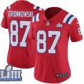 Nike Patriots #87 Rob Gronkowski Red Women 2019 Super Bowl LIII Vapor Untouchable Limited Jersey