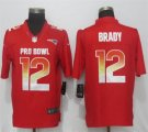Nike AFC Patriots #12 Tom Brady Red 2019 Pro Bowl Limited Jersey