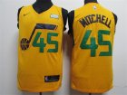 Jazz #45 Donovan Mitchell Yellow Nike Swingman Jersey