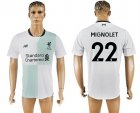 2017-18 Liverpool 22 MIGNOLET Away Thailand Soccer Jersey