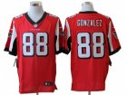 Nike NFL Atlanta Falcons #88 Gonzalez Red Jerseys(Elite)
