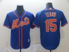 Mets #15 Tim Tebow Blue Cool Base Jersey
