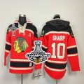 nhl jerseys chicago blackhawks #10 sharp red[pullover hooded sweatshirt A][2013 Stanley cup champions]