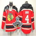 nhl chicago blackhawks #4 orr red[pullover hooded sweatshirt][orr][2013 Stanley cup champions]