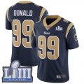 Nike Rams #99 Aaron Donald Navy Youth 2019 Super Bowl LIII Vapor Untouchable Limited Jersey