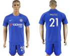2017-18 Chelsea 21 MATIC Home Soccer Jersey