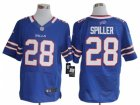 Nike NFL Buffalo Bills #28 C.J. Spiller Blue Jerseys(Elite)