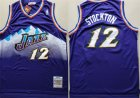 Jazz #12 John Stockton Purple Hardwood Classics Jersey(1)