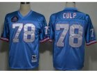 NFL Houston Oilers #78 Cuyley Culp Light Blue M&N(Hall of Fame Class)