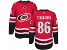 Men Adidas Carolina Hurricanes #86 Teuvo Teravainen Authentic Red Home NHL Jersey