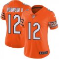 Nike Bears #12 Allen Robinson II Orange Women Color Rush Limited Jersey