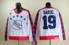 nhl Quebec Nordiques #19 SAKIC all star 75th Anniversary white CCM