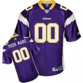 Customized Minnesota Vikings Jersey Youth Eqt Purple Team Color Football