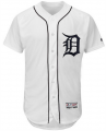 Men Detroit Tigers #28 Niko goodrum White 2018 Home Flex Base Authentic Collection Jersey