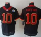 Nike Redskins #10 Robert Griffin III Black With Hall of Fame 50th Patch NFL Elite Jersey