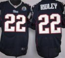 Nike Patriots #22 Stevan Ridley Navy Blue With Hall of Fame 50th Patch NFL Elite Jersey