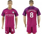 2017-18 Manchester City 8 GUNDOGAN Away Soccer Jersey