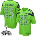 Nike Seattle Seahawks #25 Richard Sherman Steel Blue-Green Super Bowl XLVIII Youth Stitched NFL Stitched Jersey