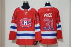 Canadiens #31 Carey Price Red Drift Fashion Adidas Jersey