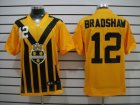 Nike NFL Pittsburgh Steelers #12 Bradshaw Yellow Throwback Elite Jerseys