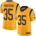 Nike Rams #35 C.J. Anderson Gold Color Rush Limited Jersey