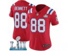 Women Nike New England Patriots #88 Martellus Bennett Red Alternate Vapor Untouchable Limited Player Super Bowl LII NFL Jersey