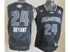 2013 nba all star los angeles lakers #24 kobe bryant grey jerseys