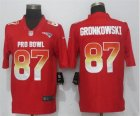 Nike AFC Patriots #87 Rob Gronkowski Red 2019 Pro Bowl Limited Jersey