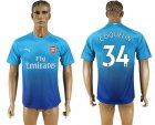 2017-18 Arsenal 34 COQUELIN Away Thailand Soccer Jersey