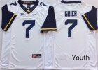 West Virginia Mountaineers #7 Will Grier White Youth Nike College Football Jersey