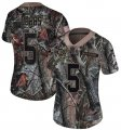 Nike Steelers #5 Joshua Dobbs Camo Women Rush Limited Jersey