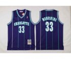 nba new orleans hornets #33 mourning pueple[stripe][2016 new]